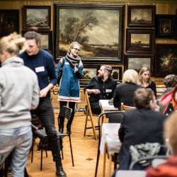 Editathon in the Hallwyl Museum, Stockholm