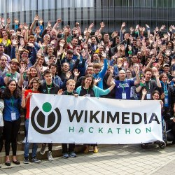Attendees of the Wikimedia Hackathon 2019