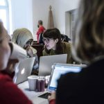 Wikipedia edit-a-thon Art+Feminism at the Royal Armoury in Stockholm