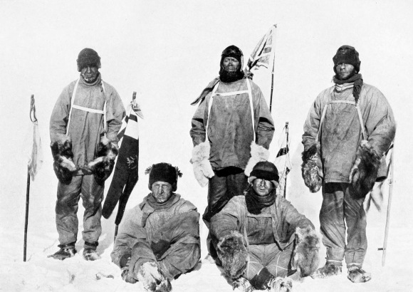 Robert Scott's ill-fated expedition at the South Pole. Photo by Henry Bowers, public domain/CC0.