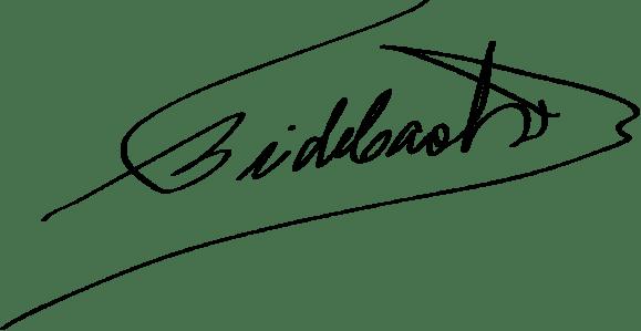 Castro's signature, public domain/CC0.
