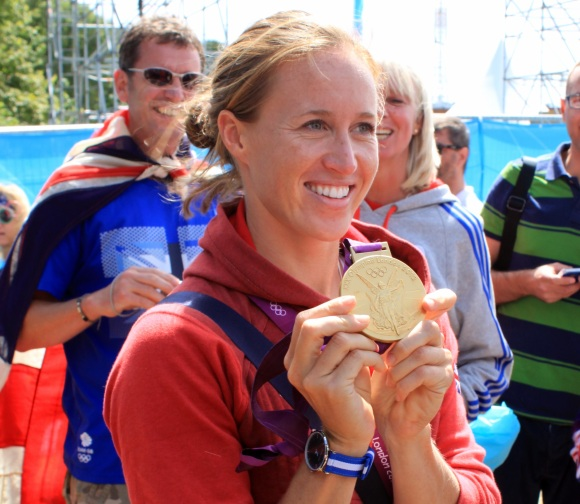 Helen Glover, gold medal winner, seen here in 2012. Photo by Thomaswwp, CC BY-SA 3.0.