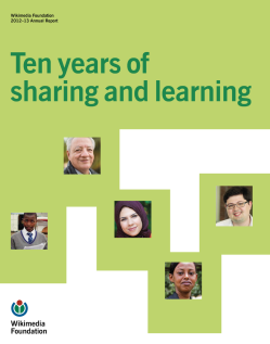 Wikimedia Foundation Annual Report 2012 cover