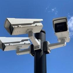 Surveillance cameras in Lyon near Les Halles Paul-Bocuse