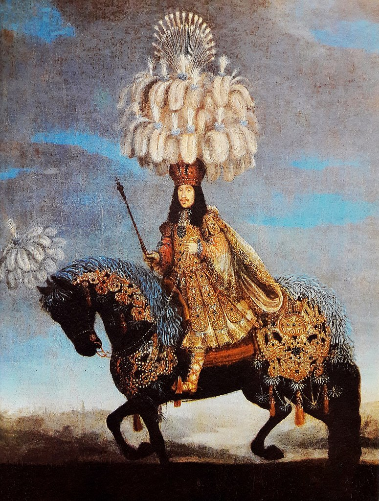 Thomas Leopold I in a costume for a horse-ballet