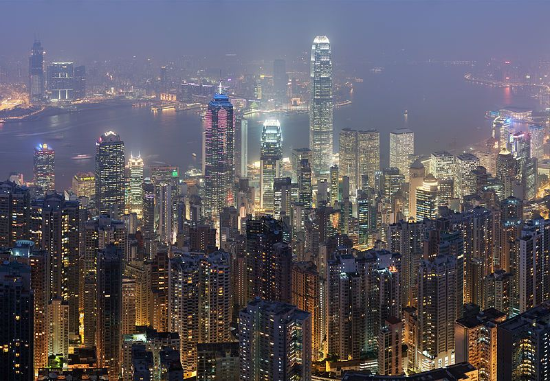 Hong Kong skyline - December 2007