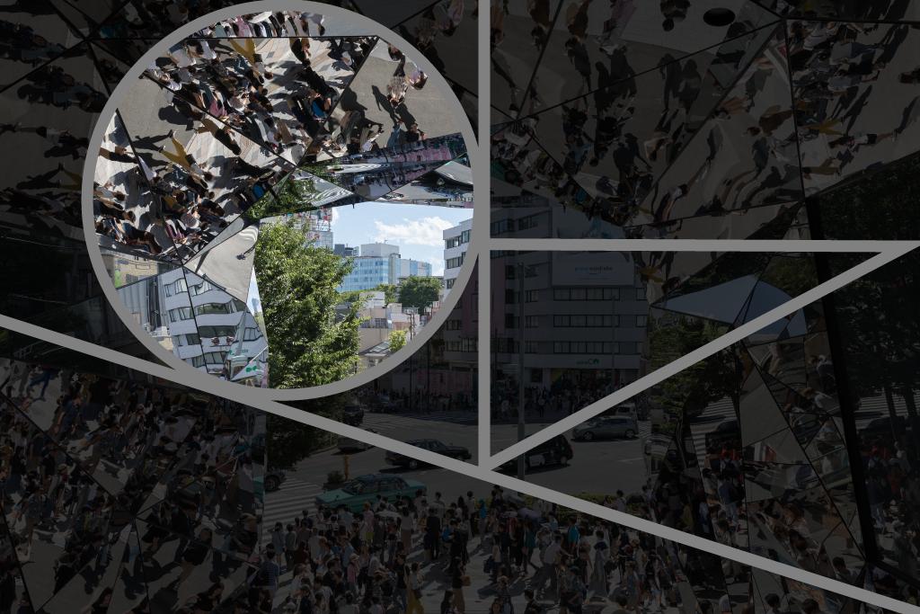 Mirror views of groups of people